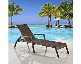 Купить шезлонгам Афина-мебель Шезлонг-лежак плетеный A30A-W53 Brown
