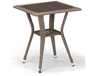 Купить стол Афина-мебель Плетеный T25-W56-50x50 Light brown