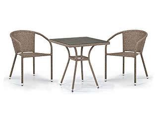 Купить обеденную группу Афина-мебель T282BNT/Y137C-W56 Light brown 2Pcs