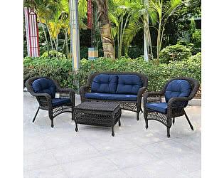 Купить комплект садовой мебели Афина-мебель LV520BB Вrown/Blue