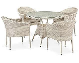 Купить обеденную группу Афина-мебель T190A/Y350A-W85-D90 Latte 4Pcs