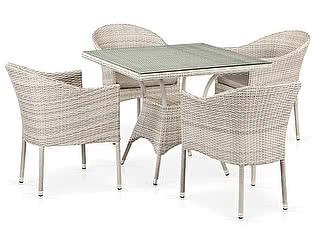 Купить обеденную группу Афина-мебель T190B/Y350A-W85-90x90 Latte 4Pcs