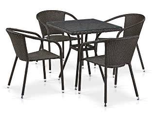 Купить обеденную группу Афина-мебель T282BNT/Y137C-W53 Brown 4Pcs