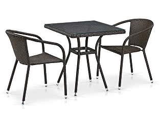 Купить обеденную группу Афина-мебель T282BNT/Y137C-W53 Brown 2Pcs