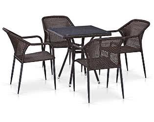 Купить обеденную группу Афина-мебель T282BNT/Y35-W2390 Brown 4Pcs