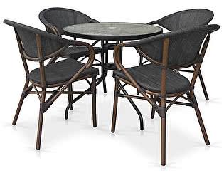 Купить обеденную группу Афина-мебель TLH-087-D80/D2003S 4Pcs