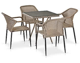 Купить обеденную группу Афина-мебель T282BNT/Y35G-W1289 Pale 4Pcs