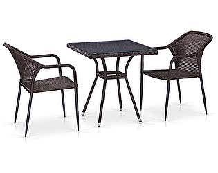 Купить обеденную группу Афина-мебель T282BNT/Y35-W2390 Brown 2Pcs