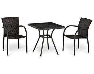 Купить обеденную группу Афина-мебель T282BNT-W2390/Y282-W52 Brown 2Pcs
