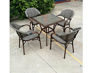 Купить обеденную группу Афина-мебель T130/C029-TX 70x70 4Pcs