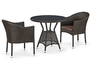 Купить обеденную группу Афина-мебель T707ANS/Y350-W53 2Pcs Brown