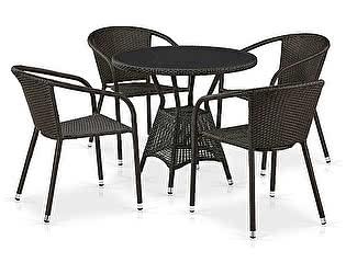 Купить обеденную группу Афина-мебель T707ANS/Y137C-W53 4Pcs Brown