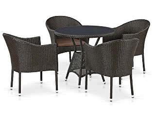 Купить обеденную группу Афина-мебель T707ANS/Y350-W53 4Pcs Brown