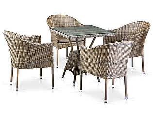 Купить обеденную группу Афина-мебель T706G/Y350G-W1289 4Pcs Pale