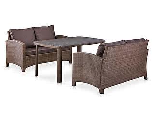 Купить комплект садовой мебели Афина-мебель T51A/S58A-W773 Brown