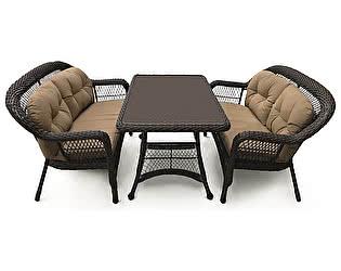 Купить комплект садовой мебели Афина-мебель T130Br/LV520-1 Brown/Beige 4Pcs
