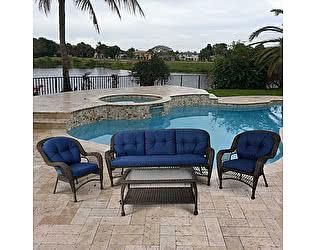 Купить комплект садовой мебели Афина-мебель LV216 Brown/Blue