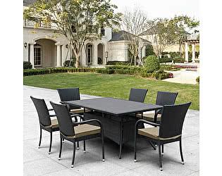 Купить обеденную группу Афина-мебель T170S/S6Black 6Pcs