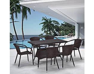 Купить обеденную группу Афина-мебель T198D/Y137C-W53 Brown 6Pcs