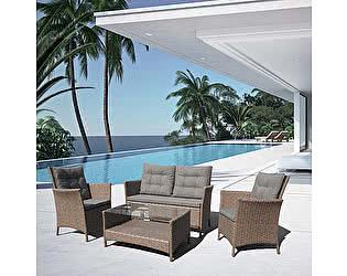 Купить комплект садовой мебели Афина-мебель Плетеный комплект для отдыха с диваном AFM-804 Beige
