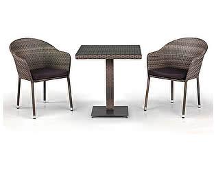 Купить обеденную группу Афина-мебель T601G/Y375G-W1289 Pale 2Pcs