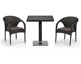 Купить обеденную группу Афина-мебель T607D/Y290-W53/52 Brown 2Pcs