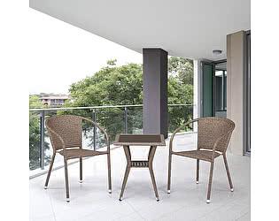 Купить обеденную группу Афина-мебель T25B/Y137C-W56 Light brown 2Pcs