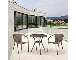 Купить обеденную группу Афина-мебель T282ANT/Y137C-W56 Light brown
