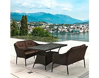 Купить комплект садовой мебели Афина-мебель T198A/S54A-W53 Brown