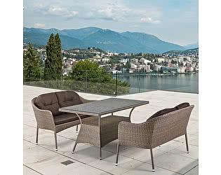 Купить комплект садовой мебели Афина-мебель T198B/S54B-W56 Light brown
