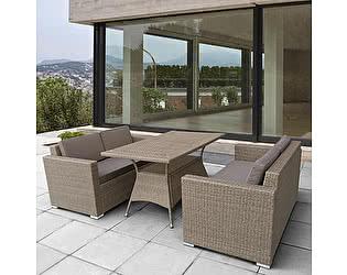 Купить комплект садовой мебели Афина-мебель T198B/S52B-W56 Light brown