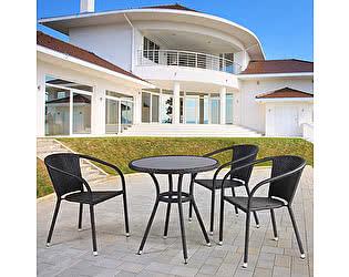 Купить обеденную группу Афина-мебель T282ANS/Y137C-W53 Brown 3Pcs
