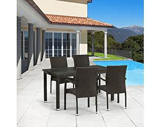 Купить обеденную группу Афина-мебель T256A/Y379A-W53 Brown 4Pcs