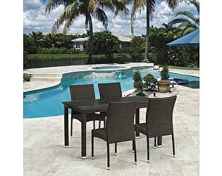 Купить обеденную группу Афина-мебель T256A/Y380A-W53 Brown 4Pcs