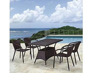 Купить обеденную группу Афина-мебель T198D/Y137C-W53 Brown 4Pcs