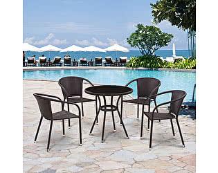 Купить обеденную группу Афина-мебель T282ANS/Y137C-W53 Brown 4Pcs