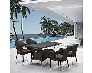 Купить обеденную группу Афина-мебель T198A/Y97B-W53 4 Pcs Brown