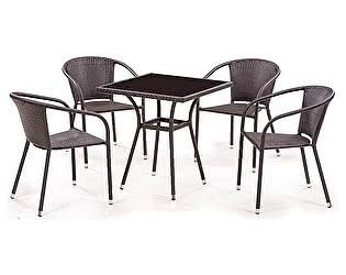 Купить обеденную группу Афина-мебель T282BNS/Y137C-W53 Brown 4Pcs