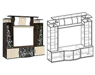 Купить гостиную Мебель Маркет Центральная секция Алегро (Венге/Дуб)