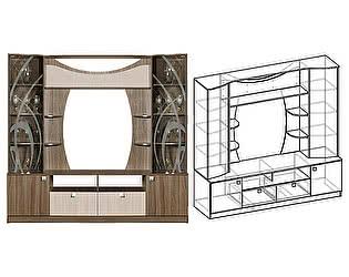 Купить гостиную Мебель Маркет Центральная секция Мадрид 4 (ясень)