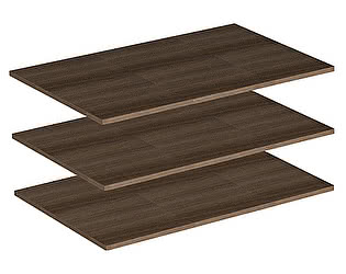 Купить полку Мебель Маркет Комплект полок для шкафа 2х створчатого (Ясень Шимо темный)