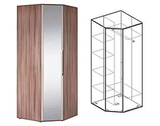 Купить шкаф Мебель Маркет Берта угловой с зеркалом (Ясень Шимо)