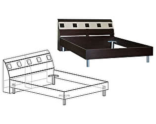 Купить кровать Мебель Маркет Версаль 1600
