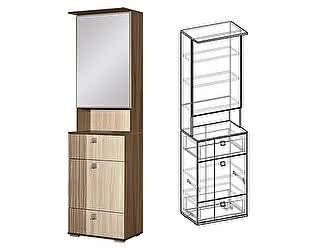 Купить шкаф Мебель Маркет Богемия с зеркалом