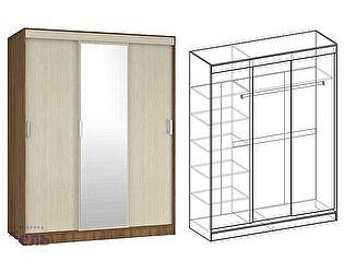 Купить шкаф Мебель Маркет Светлана купе 3-х створчатый с 1 зеркалом