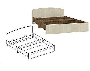 Купить кровать Мебель Маркет Светлана с фигурной спинкой 1600