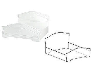 Купить кровать Мебель Маркет Кровать 1600 б/о, б/м