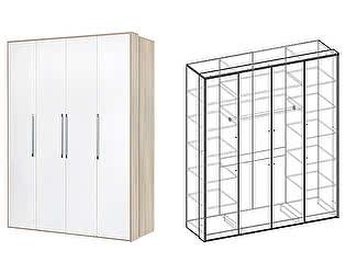 Купить шкаф Мебель Маркет Интегро 4х-створчатый