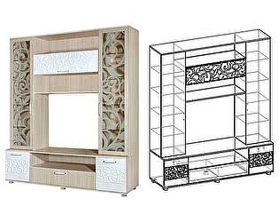 Купить гостиную Мебель Маркет Центральная секция Фараон