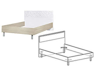 Купить кровать Мебель Маркет Винтаж 1400